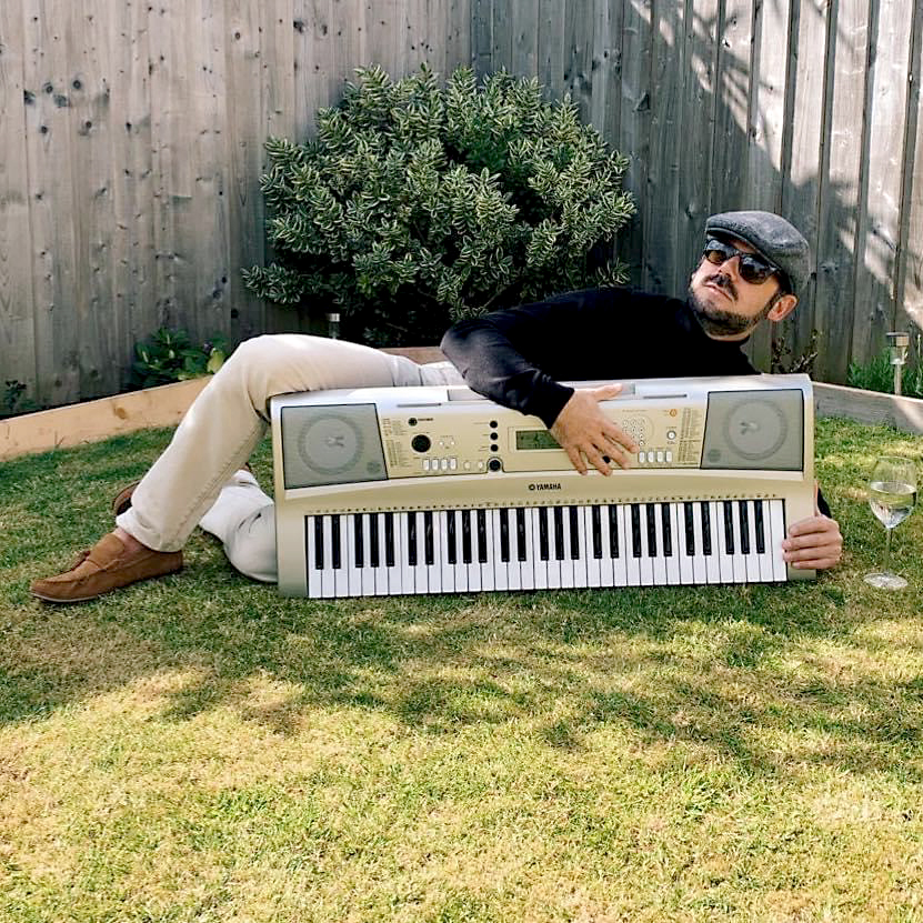 David Spicer with his keyboard