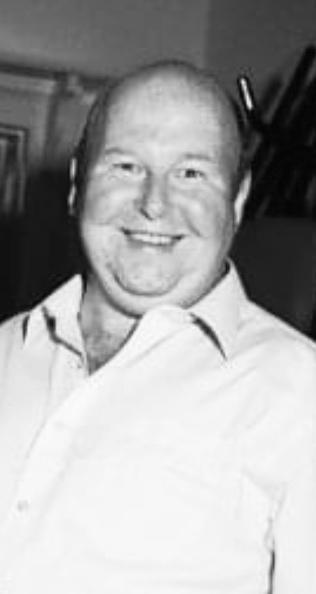 Black and white portrait shot of Garry Wakeman