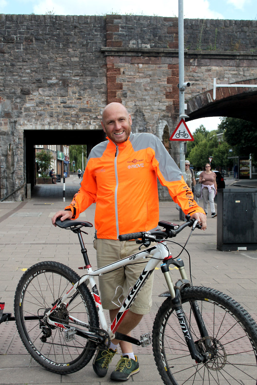 Paul Mouland with his cycle