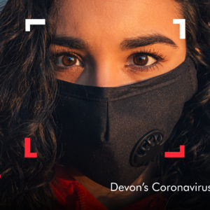 Lockdown Legend promotion image showing a woman wearing a mask