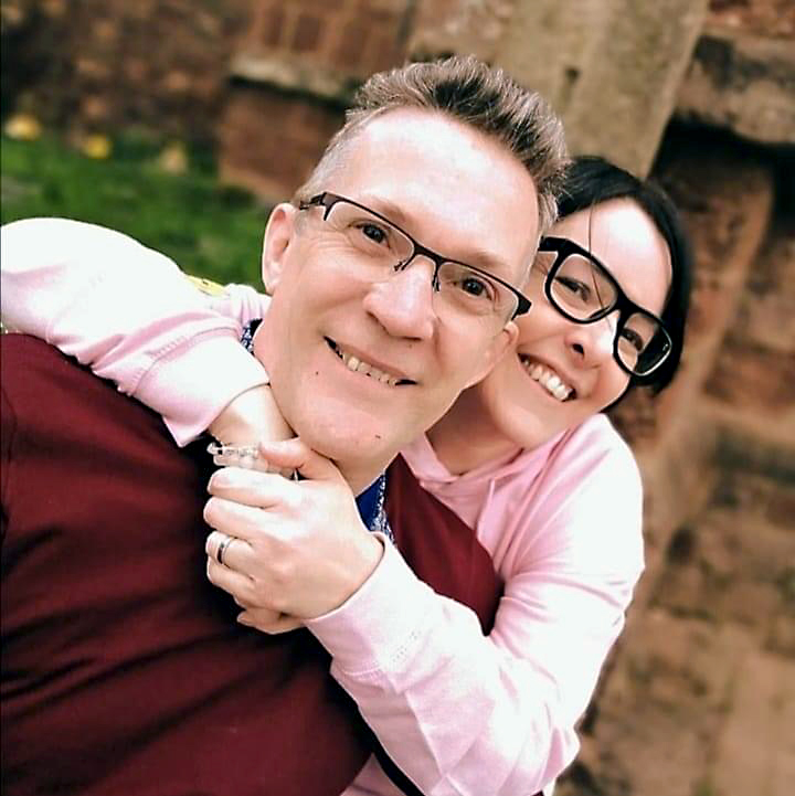 Reverend Mike Partridge with his wife
