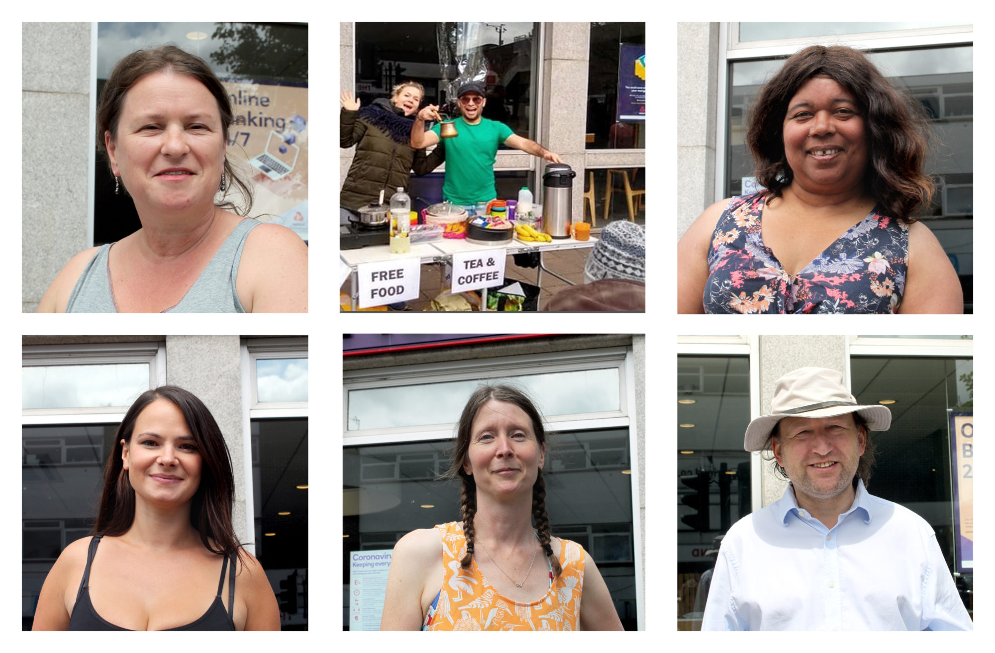 Photographs of Liz, James, Ruth, Claire, Rhiannon and Paul from St Thomas Food Fight