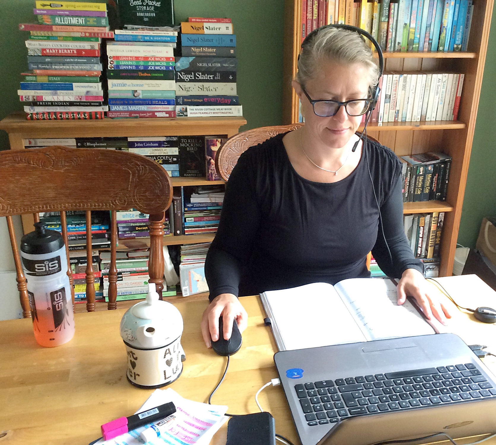 Victoria Hatfield working from home
